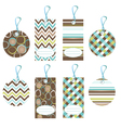 cool color tags vector image vector image