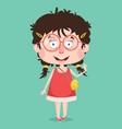 abstract girl character design vector image