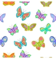 Butterfly pattern cartoon style vector image