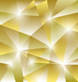 Geometric pattern with golden triangles background vector image
