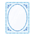 Mirror frame faience vector image