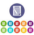 paper and pencil set icons vector image