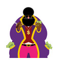 pimp and money pocket full of cash bright vector image