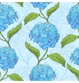 Seamless pattern with hydrangea vector image