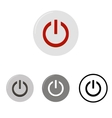Set of power buttons vector image