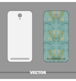 Phone Cover Blue Floral Ornament vector image