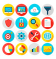 big data analytics flat icons vector image vector image