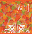 autumn banner with the words and contours of shoes vector image