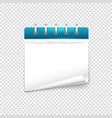 paper diary on transparent background mockup vector image