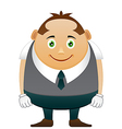 Thick happy office man vector image vector image