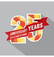 25th Years Anniversary Celebration Design vector image