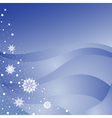 winter background with snowfla vector image vector image