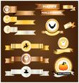 Halloween ribbon gold silver copper vector image