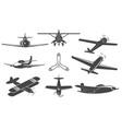 planes set vector image