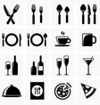 Icons for the kitchen vector image
