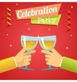 Celebration Success Prosperity Invitation vector image