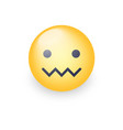 confounded emoticon face zipper-mouth face vector image