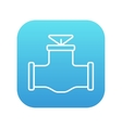 Gas pipe valve line icon vector image