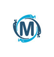 water clean service abbreviation letter m vector image