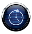 Blue honeycomb clock icon vector image