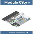 Isometric 3D airstrip vector image vector image