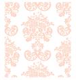 Vintage elegant rose flower ornament vector image