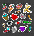 sweet quirky badges set vector image