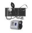 manometer instrument for measuring blood pressure vector image