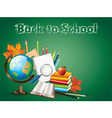 school globe tools background vector image