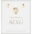 special Christmas menu vector image