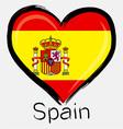 love Spain flag vector image vector image