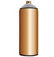Spray bottle copper vector image