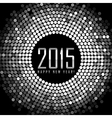 - Happy New Year 2015 - frame with silver disco vector image