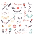 Elegant romantic collection vector image