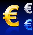 abstract euro sign vector image vector image
