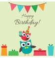 Party owls card vector image