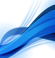 Abstract Blue Futuristic Wave Background EPS10 vector image