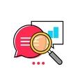Data analytics icon analyzing information vector image