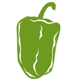 Green Pepper in Flat Style vector image