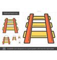 railroad track line icon vector image