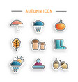 set autumn icon vector image