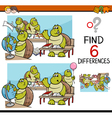 differences task for kids vector image vector image