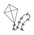 Isolated kite toy design vector image