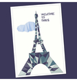 Eiffel tower in low poly style vector image