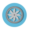 turbine air isolated icon vector image