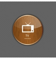 TV wood application icons vector image vector image