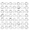 Different children faces cartoon vector image