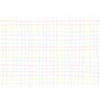 Rainbow Grid White Background vector image