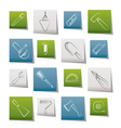 construction and building tools icons vector image