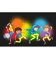 Children doing hip hop dance vector image